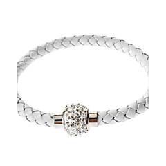 בגדי ריקוד נשים צמידי צ'ארם צמידי עור צמידי גלישה עיצוב בייסיק חברות עבודת יד קָלוּעַ אופנתי תכשיטים עור אבן נוצצת תכשיטים תכשיטים עבור