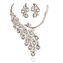 Jewelry Set Women's Anniversary / Wedding / Engagement / Birthday / Gift / Party / Daily / Special Occasion Jewelry Sets Alloy Rhinestone