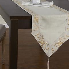 """16 """"x 69"""" classic Polyester beige floral Tischläufer"""