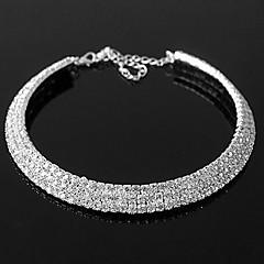 Aleación exquisita con el collar del Rhinestone Mujeres