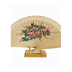 Elegant Black Wooden Hand Fan - Set Of 4 (More Colors)