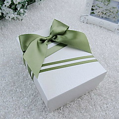 Nizza Quader Rosa Favor Box mit grünem Band (Set von 30)