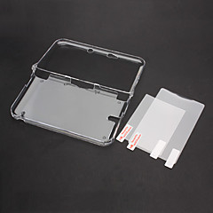 Kristall-Fall-Abdeckung mit Top + Bottom LCD Screen Protector für Nintendo 3DS XL