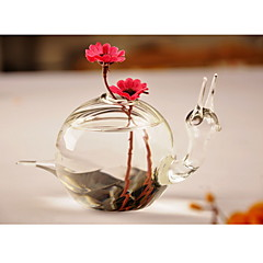 Table Centerpieces Snail Shaped Glass Vase  Table Deocrations