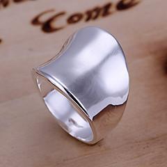 Anéis Diário Jóias Liga Feminino Anéis Grossos 1peça,8 Prateado