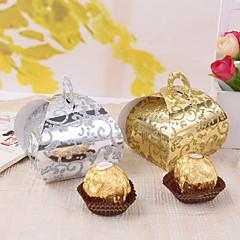 12 kpl / setti hyväksi haltija - luova kortti paperi cupcake kääre ja laatikot elegent himmeä