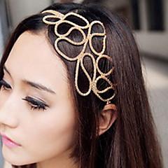 z&x® holle gevlochten haar met gouden haarband