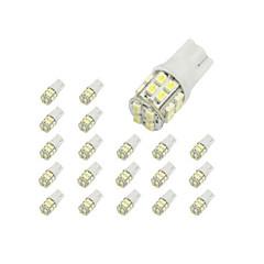 10 x 20 T10-SMD 1210 bílá LED světla auta Žárovka 194 168 2825 W5W