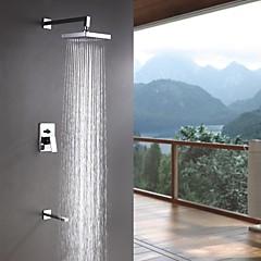 Sprinkle® Duscharmaturen  ,  Moderne  with  Chrom Ein Griff Drei Löcher  ,  Feature  for Wand