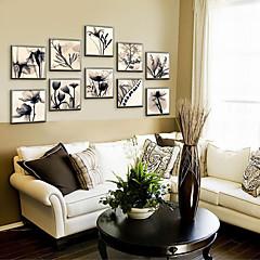 Blumenmuster/Botanisch Gerahmtes Leinenbild / Gerahmtes Set Wall Art,PVC Stoff Champagner Kein Passpartout Mit Feld For Haus Dekoration