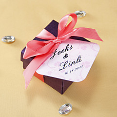 Personalized Favor Tags - Pink Clover (set of 36)
