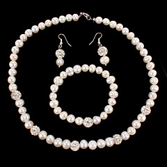 Jewelry Set Women's Anniversary / Wedding / Birthday / Gift / Party / Special Occasion Jewelry Sets Pearl / RhinestoneNecklaces /