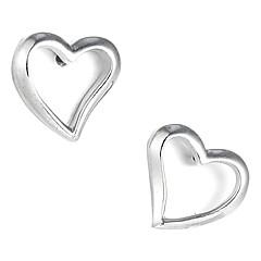 Gorgeous Sterling Silver Heart Shaped Stud Earrings