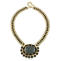 European Style Alloy Resin Fabric Chain Women's Necklace