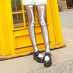Sokken en kousen Gothic Lolita Lolita Wit / Zwart Lolita Accessoires Kousen Print  Voor Dames Polyester