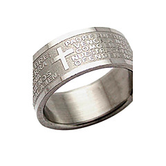 Ring Women's Titanium Titanium 9½ SilverColor & Style representation may vary by monitor. Not responsible for typographical or pictorial