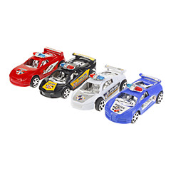 4 stuks Kleur simuleren Police Car Toy