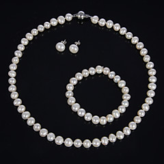 Jewelry Set Women's Birthday / Gift / Party / Special Occasion Jewelry Sets Pearl Necklaces / Bracelets / Earrings As the Picture