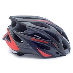 Capacete (Vermelho / Preto , PC / EPS) - Half Shell - Unisexo 21 AberturasCiclismo / Ciclismo de Montanha / Ciclismo de Estrada /