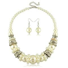 Šperky Set Dámské Svatba / Zásnuby / Narozeniny / Dárek / Párty / Na každý den Sady šperků Imitace perly Bez kamínku Náhrdelníky / Küpeler