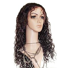 22 Zoll Lose Curly 100% Echthaar Perücke Lace Frontal Adjustable Cap Größe mehr Farben erhältlich