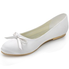Women's Shoes Satin Spring / Summer / Fall Ballerina / Closed Toe Flats Wedding / Casual / Party & Evening Flat Heel BowknotBlack / Blue