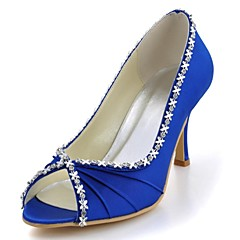 Women's Wedding Shoes Heels/Peep Toe/Open Toe Heels Wedding/Party & Evening Black/Blue/Yellow/Pink/Purple/Red/Ivory/White/Silver/Gold