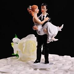 Cake Topper Non-personalized Classic Couple Resin Wedding White / Black Floral Theme / Classic Theme Gift Box