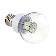 4W E26/E27 LED Kugelbirnen G60 27 SMD 5730 500 lm Warmes Weiß DC 12 / AC 12 / AC 24 / DC 24 V