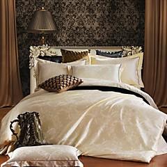 Blumen Seide/Baumwolle Bettbezug-Sets