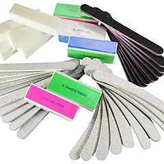 40PCS 5 Types Nail Art Files & Buffer Blocks (4 Colors) Manicure Set for Acrylic