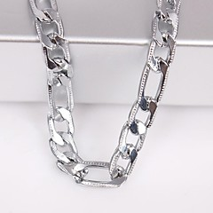 Eruner®Unisex 6MM Silver Chain Necklace NO.115 Jewelry