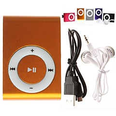 Mini klips plugg-in mikro SD-kort TF-kort MP3-spiller (assorterte farger)