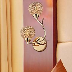 moderne guld dobbelt K9 krystal væglamper