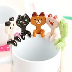 tegneserie dyr keramisk hængende skeer (assorteret farve)