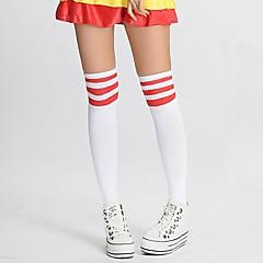 גרביים וגרביונים לוליטה מתוקה / לוליטה קלאסית ומסורתית לוליטה לוליטה אדום / לבן לוליטה אביזרים גרביונים דפוס / פסים ל נשים ניילון