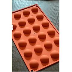 24 félkör csokoládé forma torta, szilikon 29,8 x 17,4 x 1,5 cm-es (11,7 × 6,9 × 0,6 hüvelyk)