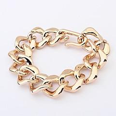 estilo europeu banhado a ouro simples pulseira coringa