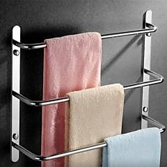 kortárs 304 rozsdamentes acél fürdőszoba három rúd törülközőtartó polírozott kivitelben