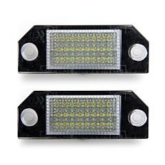 מנורות לוחית רישוי מספר מכונית לבנה 24 הובילו נורות אורות לפורד פוקוס 2 c-max
