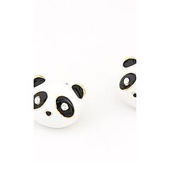 Moda panda encantador brincos