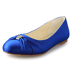Women's Wedding Shoes Closed Toe Flats Wedding Black/Blue/Pink/Purple/Red/White/Silver/Gold/Champagne/Beige
