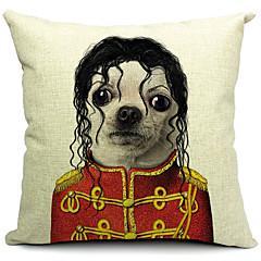 tegneserie dejlige hund bomuld / hør dekorative pudebetræk