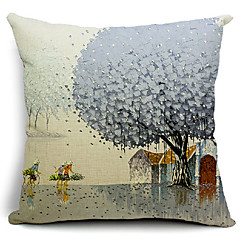 Go Home in Winter Cotton/Linen Decorative Pillow Cover