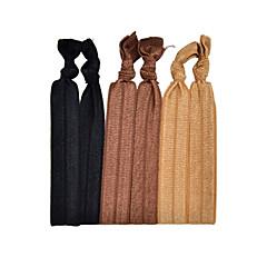 Plain Hair Tie and Bracelet Elastic 6 On a Card