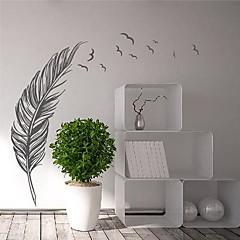 Wandaufkleber moderne Feder mit fliegenden Vögeln Landschaft pvc dekorative Wandtattoos