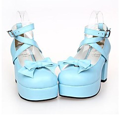Lolita Shoes Sweet Lolita Lolita High Heel Shoes Bowknot 8 CM Red / Purple / Silver / White / Black / Pink / Green / Yellow / Blue For