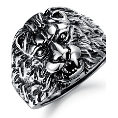 指輪 パーティー / 日常 / カジュアル ジュエリー ステンレス鋼 男性 バンドリング8 ブラックとホワイト
