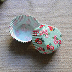 Spring Floral Cupcake Wrappers-Set of 50