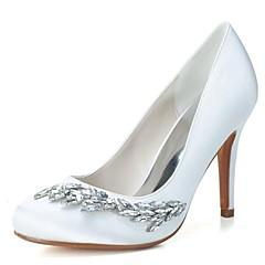 Women's Spring Summer Fall Winter Satin Wedding Party & Evening Stiletto Heel Black Blue Pink Purple Ivory White Silver